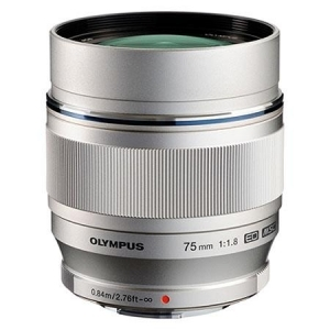 Olympus M.ZUIKO DIGITAL ED 75mm 1:1.8 silver